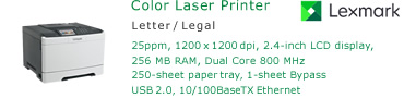 See Pricing for Lexmark CS317 Color Laser Printer