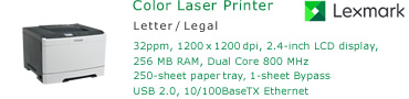See Pricing for Lexmark CS410 Color Laser Printer