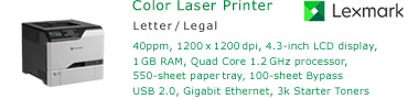 See Pricing for Lexmark CS720 Color Laser Printer