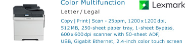 See Pricing for Lexmark CX310 Color Multifunction