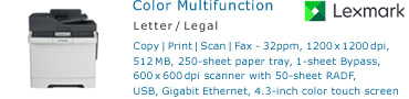 See Pricing for Lexmark CX410 Color Multifunction