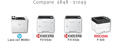 Compare Business Black and White Laser Printers