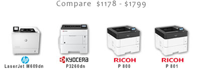 Compare High-Speed Black and White Laser Printers