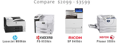 Compare High-Volume Black and White Laser Printers