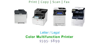 Compare Multifunction Color Laser Printers