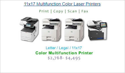 compare color laser printers by category cost per page calculations