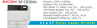 See Pricing on Ricoh SP C830dn, Accessories and Supplies
