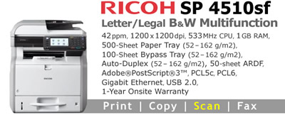See Pricing on Ricoh SP 4510sf, Accessories and Supplies