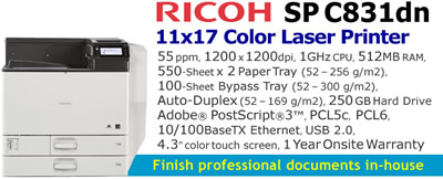 See Pricing on Ricoh SP C831dn, Accessories and Supplies