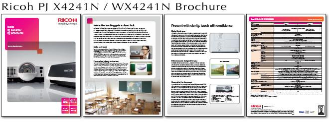 See full Brochure for Ricoh PJ WX4241N