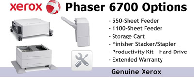 See Pricing on Options for Xerox Phaser 6700