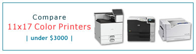 Compare 11x17 Color Laser Printers - Under $2500