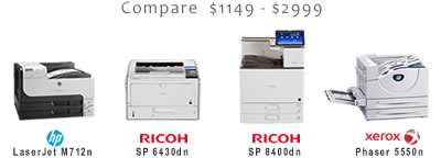 Compare 11x17 Black and White Laser Printers