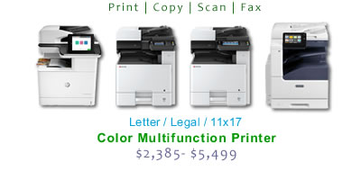 Compare 11x17 Multifunction Color Laser Printers
