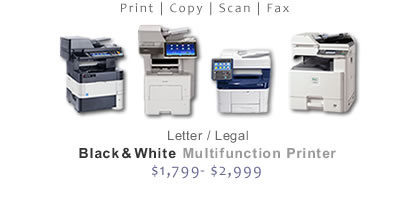 Compare Black and White Multifunction Printers