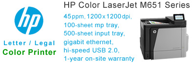 See Pricing for HP Color LaserJet M651 Series