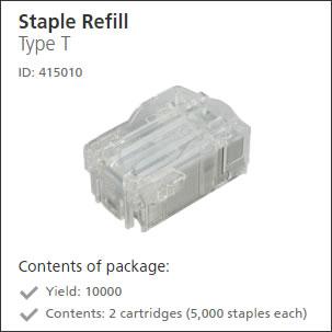 Ricoh Staple Refill Type T 415010