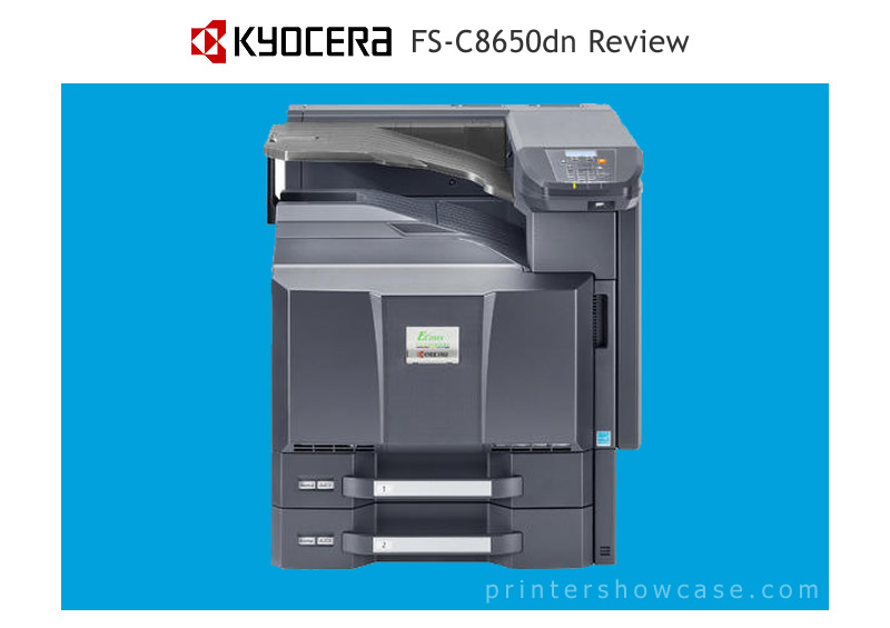 In Short The Kyocera FS C8650DN Is An 11X17 Network Color Printer Intended For High Volume Printing Setting Up Not More Difficult Than