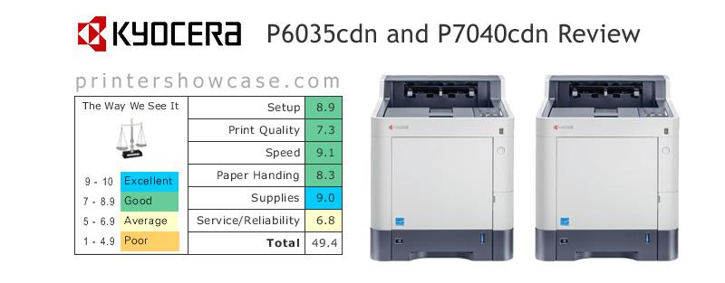 Color Laser Printer Review - Kyocera-P6035cdn