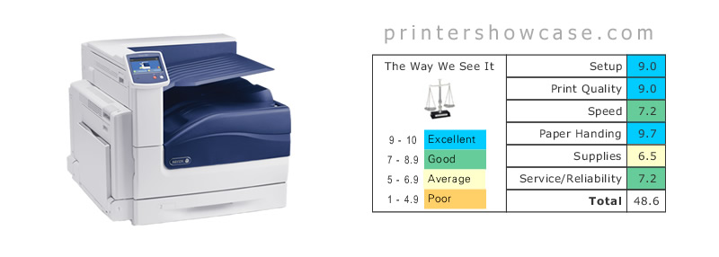 Color Laser Printer Review - Xerox Phaser 7800