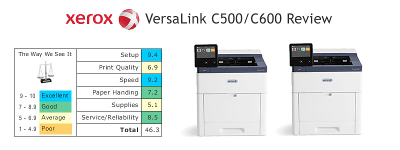Color Laser Printer Review - Xerox VersaLink C500/C600